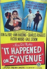 Films, December 11, 2017, 12/11/2017, Roy Del Ruth's It Happened on Fifth Avenue (1947): Hobo Moves into Mansion