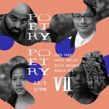 Poetry Readings, December 02, 2017, 12/02/2017, 4 Asian-American poets read from their work