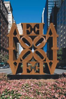 Opening Receptions, January 18, 2018, 01/18/2018, New Sculpture by Robert Indiana