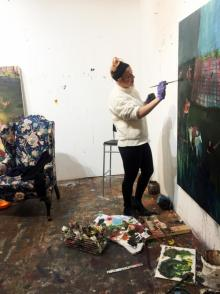 Opening Receptions, January 26, 2018, 01/26/2018, Paintings by Grace Metzler