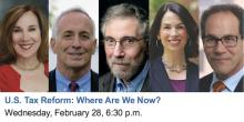Discussions, February 28, 2018, 02/28/2018, U.S. Tax Reform: Where Are We Now? - with Paul Krugman of The New York Times