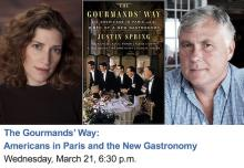 Author Readings, March 21, 2018, 03/21/2018, Justin Spring discusses his book The Gourmands' Way: Americans in Paris and the New Gastronomy