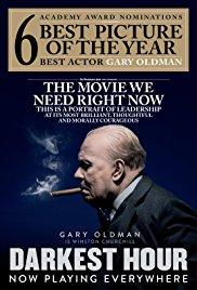 Films, April 26, 2018, 04/26/2018, Joe Wright's Darkest Hour (2017) Gary Oldman's Oscar