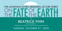 Lectures, October 09, 2018, 10/09/2018, On the Fate of the Earth