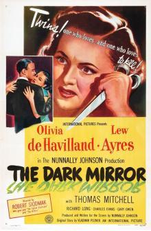 Films, January 17, 2019, 01/17/2019, The Dark Mirror (1946): Oscar nominated film noir thriller