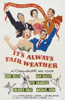 Films, January 22, 2019, 01/22/2019, It's Always Fair A Weather (1955): Two time Oscar nominated musical