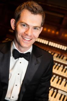 """Concerts, January 27, 2019, 01/27/2019, Organist displaying """"phenomenal technique and sheer musicality"""" - Bloomberg News"""