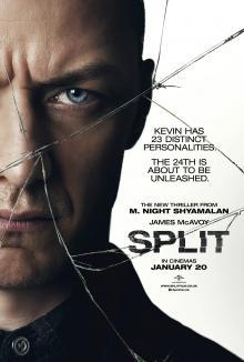 Films, January 19, 2019, 01/19/2019, Split (2017) with James McAvoy:a psychological horror thriller