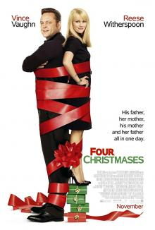Films, December 22, 2018, 12/22/2018, Four Christmases (2008): Romantic comedy with Oscar winning Reese Witherspoon
