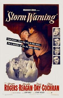 Films, January 14, 2019, 01/14/2019, Storm Warning (1951): Film-noir starring Ronald Reagan and Oscar winning Ginger Rogers