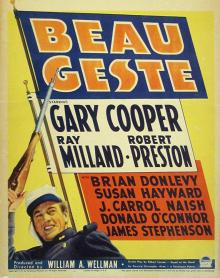 Films, March 07, 2019, 03/07/2019, Beau Geste (1939): Two time Oscar nominated adventure with Gary Cooper