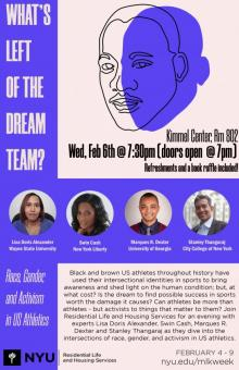 Discussions, February 06, 2019, 02/06/2019, What's Left of the Dream Team?: Race, Gender, and Activism in U.S. Athletics