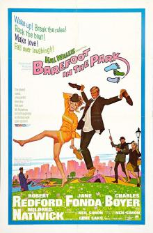 Films, February 13, 2019, 02/13/2019, Barefoot in the Park (1967): Comedy based on a play starring Jane Fonda and Robert Redford