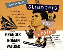 Films, April 13, 2019, 04/13/2019, Strangers on a Train (1951): Oscar Nominated Psychological Thriller Film-Noir ByAlfred Hitchcock
