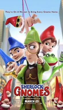 Films, June 21, 2019, 06/21/2019, Sherlock Gnomes (2018): Garden Gnomes Get Help From The Famous Detective