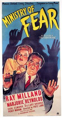 Films, September 26, 2019, 09/26/2019, Ministry of Fear (1944): Nazi Spy Plot