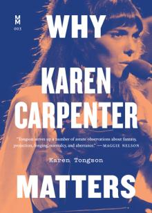 Author Readings, September 05, 2019, 09/05/2019, Why Karen Carpenter Matters: Finding a Voice in Suburban Pop