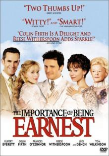 Films, September 27, 2019, 09/27/2019, The Importance of Being Earnest (2002) With Colin Firth And Reese Witherspoon: Based On Oscar Wilde's Play