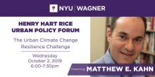 Lectures, October 02, 2019, 10/02/2019, The Urban Climate Change Resilience Challenge