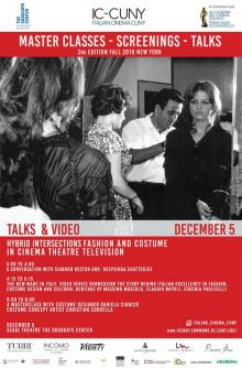 Symposiums, December 05, 2019, 12/05/2019, Hybrid Intersections: Fashion, Costume, Cinema and Television