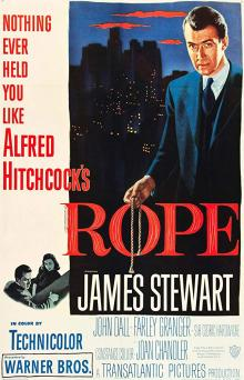 Films, February 05, 2020, 02/05/2020, Rope (1948):  Alfred Hitchcock's Psychological Crime Thriller