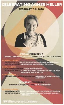 Conferences, February 08, 2020, 02/08/2020, Celebrating Philosopher Agnes Heller
