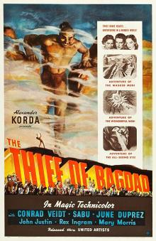 Films, March 23, 2020, 03/23/2020, !!!CANCELLED!!! The Thief of Bagdad (1940): Three Time Oscar Winning Adventure !!!CANCELLED!!!