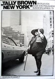 Films, March 14, 2020, 03/14/2020, !!!CANCELLED!!! Tally Brown, New York (1979): New York City Women On 16mm Documentary !!!CANCELLED!!!