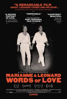 Films, March 13, 2020, 03/13/2020, !!!CANCELLED!!! Documentary: Marianne & Leonard: Words of Love (2019): Leonard Cohen And His Muse !!!CANCELLED!!!