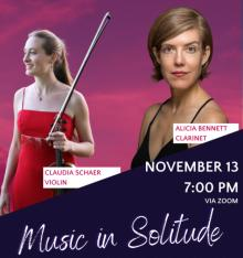 Concerts, November 13, 2020, 11/13/2020, J.S. Bach, Stravinsky and More (virtual)