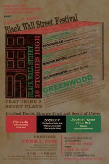 Performances, June 01, 2021, 06/01/2021, Black Wall Street Festival: 3 Short Plays (virtual)