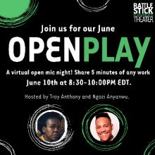 Open Mikes, June 10, 2021, 06/10/2021, Open Play (virtual)