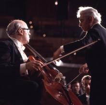 Screenings, June 11, 2021, 06/11/2021, Herbert von Karajan, Mstislav Rostropovich, The Berlin Philharmonic: R. Strauss's Don Quixote, 1975 (virtual)