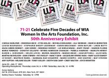 Opening Receptions, June 24, 2021, 06/24/2021, (IN-PERSON, indoors) 71-21: Celebrate Five Decades of Women In the Arts Foundation