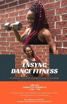Workshops, June 24, 2021, 06/24/2021, (IN-PERSON, outdoors) Dance Fitness Class