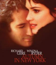 Films, October 09, 2021, 10/09/2021, Autumn In New York (2000): Classic Romantic Drama withRichard Gere, Winona Ryder (virtual, streaming for 24 hours)